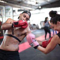 Women doing Muay Thai