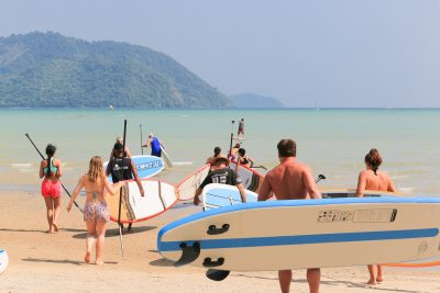 People Sup Boarding at Phuket Cleanse
